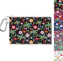 Flamingo Paradise Canvas Zip Pouch - $15.99+