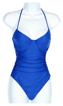 J Crew Women's Halter Underwire One-Piece Swimsuit Tidewater Size 6 C4344 - $36.79