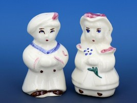 Vintage Novelty Salt & Pepper Shaker Set Shawnee Sailor Boy and Girl
