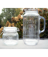 Tito's Handmade Vodka Plastic Mason Jar Pitcher 80 oz & Glass Canister Jar - $32.62