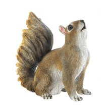 Bushy Tail Squirrel Statue Garden Decor - $15.15