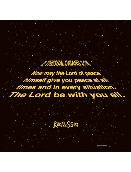 """Christian Mens T-Shirt """"MAY THE LORD BE WITH YOU"""" by Kerusso - NEW"""