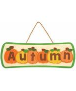 DIY Foam Autumn Pumpkin Sign for Fall (12 Pack) - Craft Kits. Hanging Decor - $11.39