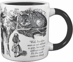 ALICE IN WONDERLAND Mug Heat Activated Transforming Disappearing Cheshire Cat  image 2