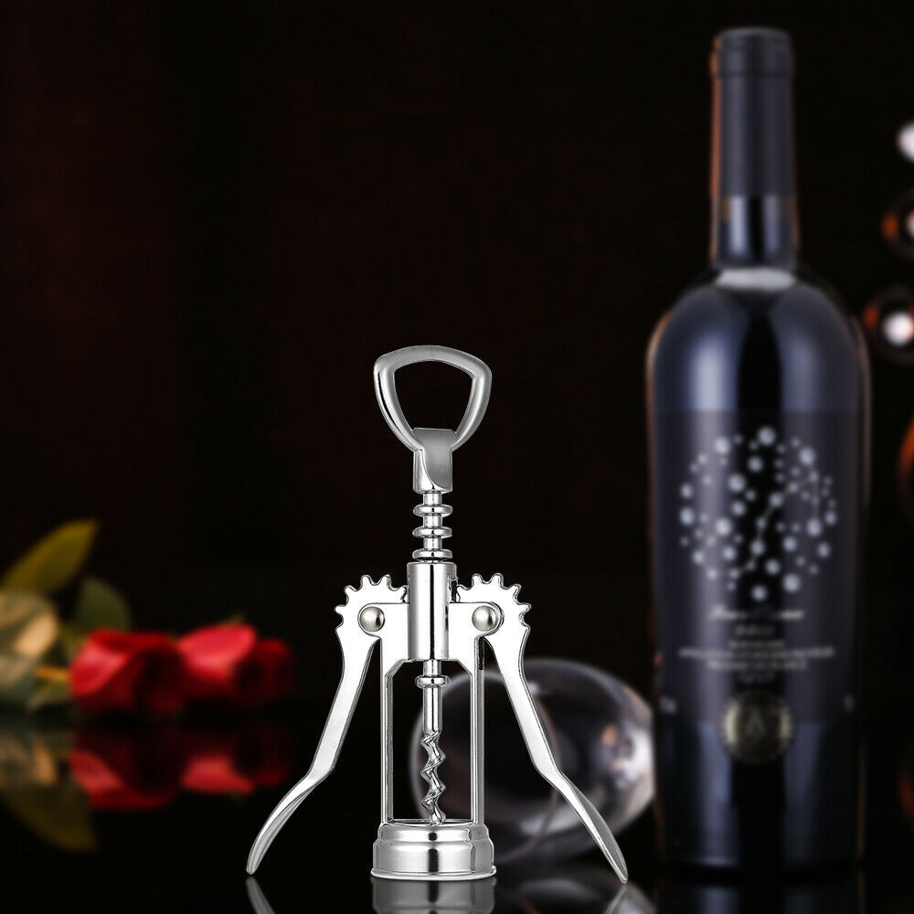 2 in 1 Wine Bottle Opener Corkscrew Beer Opener Kitchen Bar Restaurant Tool P7S2