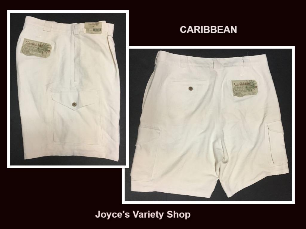Caribbean shorts mens white collage