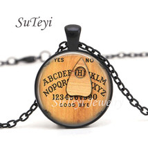 SUTEYI Fashion Personalized Ouija Board Glass Cabochon Tibet silver pend... - $9.36