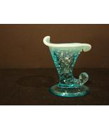 vintage Fenton art glass - HOBNAIL SLIPPER VASE Opalescent Blue Moonston... - $48.00