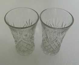 Two Water Tumblers Prescut EAPC Oatmeal & Pineapple by Anchor Hocking 9 oz - $14.80