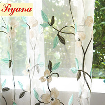 Embroidered Shading Screens Tulle Curtains For Sitting Room Bedroom Balc... - $178.70
