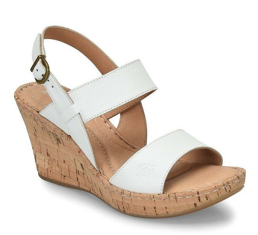 New Born Women Cherry Cork Wedge Leather Sandals Variety Color&Sizes image 4