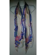 Liz Claiborne Designer Scarf 1993 Long Silk  70 x 8 Rolled Edge Ladies S... - $16.99
