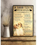 A Shih Tzu's House Rules Vertical Art Print Poster, Indoor Home Decorati... - $21.75