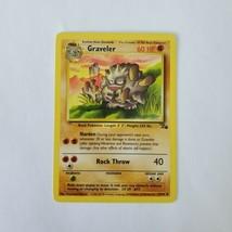 Pokemon Fossil Graveler MP 37/62 TCG Trading Card Game 1999 Unlimited - $1.49