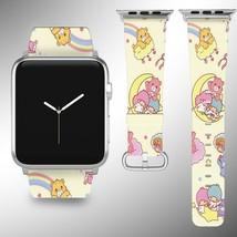 Bear Disney Apple Watch Band 38 40 42 44 mm Fabric Leather Strap 01 - $24.97