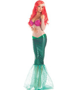 Sexy Party King Sweet Mermaid Ariel Pink Sequin & Metallic Green Costume... - $52.99