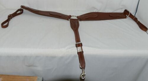 Unbranded 3573 Roper Breast Collar Dark Brown Leather Color