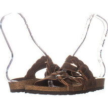 White Mountain Holland Strappy Sandals, Brown 997, Brown, 8 US - £17.43 GBP