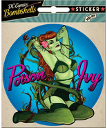 DC Comics Bombshells Poison Ivy Cheesecake Pose Peel Off Sticker Decal, ... - $3.99