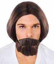 Brown Curly Wavy Wig & Beard Set HM-466 - £23.13 GBP+