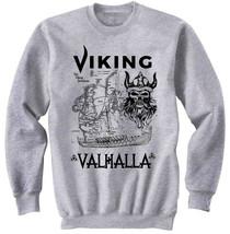 VIKING VALHALLA - NEW COTTON GREY SWEATSHIRT - $31.88