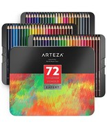 ARTEZA Colored Pencils, Professional Set of 72 Colors, Soft Wax-Based Co... - $37.36