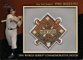 2010 Topps Manufactured Commemorative Patch #MCP-109 Phil Rizzuto Baseba... - $9.50
