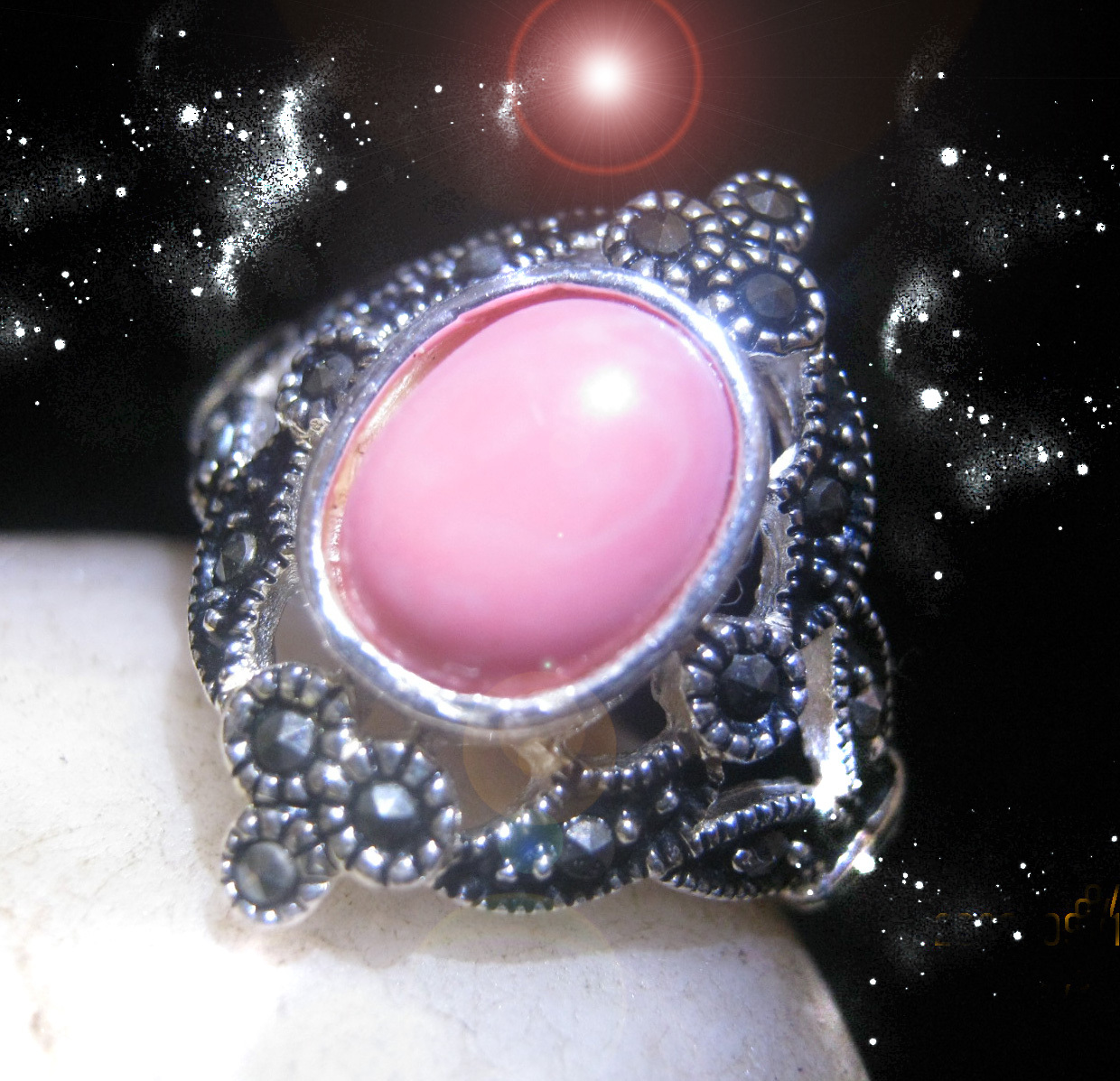 Primary image for HAUNTED RING THE ANCIENT CRONE'S SISTSRE OF THE MOON OOAK SECRET MAGICK POWER
