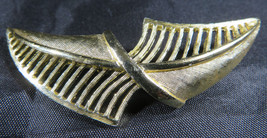 "Vintage Fashion Jewelry Lady Leaf Coro Brooch Retro Gold Color 2""3/4 image 2"