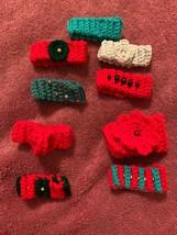NEW LOT OF 9 HANDMADE CROCHET HAIR Christmas Scrunches Bracelets - $16.74