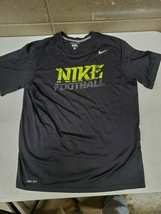 Boys Large Nike Football Dri Fit T Shirt Black (g323) - $13.56