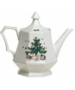 NIKKO CHRISTMASTIME 4 CUP TEAPOT NEW IN THE BOX JAPAN - $74.24