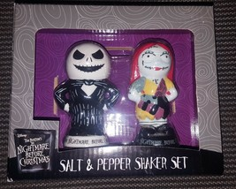 The Nightmare Before Christmas Jack Skellington & Sally Salt Pepper Shak... - $17.99