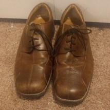 Men's Bass Lex Oxfords Dress Shoes Size 11 1/2 M Brown Leather Lace up EUC - $21.68