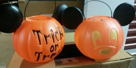 NEW 4 Halloween Blow Mold Mickey Mouse Trick orTreat Mickey Mouse Bucket... - £56.52 GBP