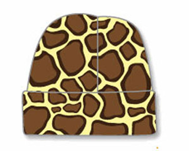 Newborn Giraffe Baby Beanie Hat Size 8-13 Pounds
