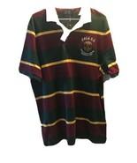 Polo Ralph Lauren Rugby Mesh Cotton Shirt Size L Red Top Bleecker Cup NE... - $39.59