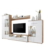 Modern 2 Entertainment Center Wall Unit with LED Lights 60 to 70 Inch TV... - $1,899.00