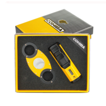 COHIBA Cigar Lighter Cutter Windproof Torch Jet Flame Gas with Gift Box - $23.46+