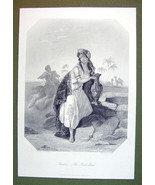 ARABIA Lovely Lady Amphora Fine Costume - SUPERB Quality Print Engraving - $22.95
