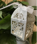 Glitter Silver Gift Boxes,Small Chocolate Boxes for wedding favors,Decor... - $36.00
