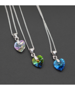 BAFFIN Crystal Necklace Heart Pendant Crystals From Swarovski For Women ... - $12.99