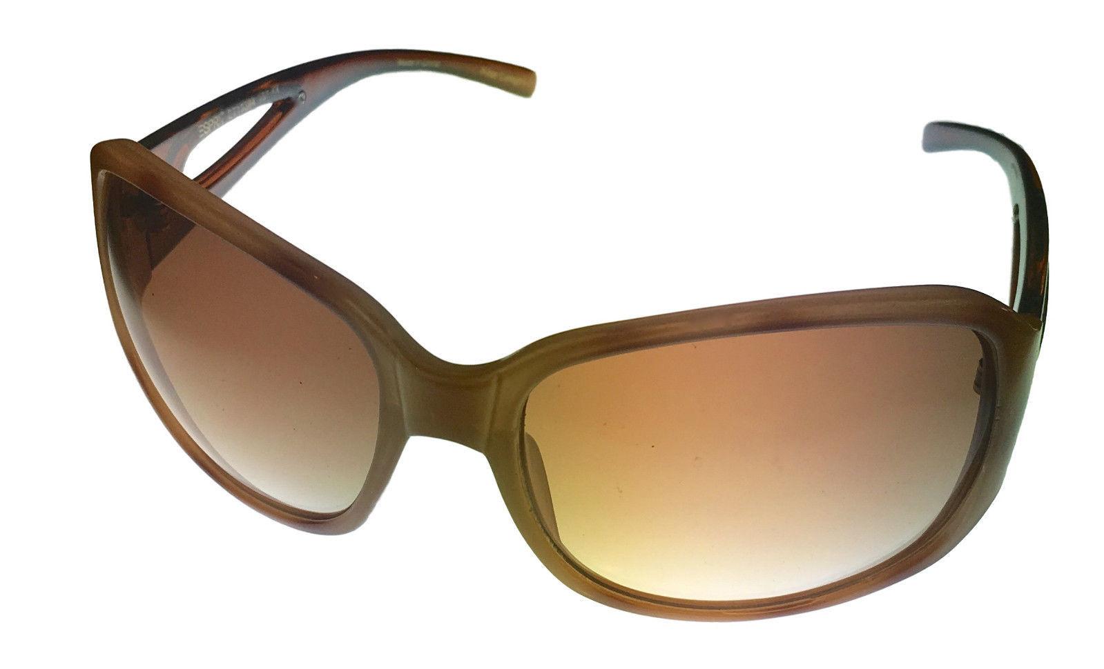 bd24aff4519 Esprit Womens Sunglass 19394 558 Beige Brown Rectangle Plastic