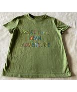 Cat & Jack Boys Green MAKE YOUR OWN ADVENTURE Short Sleeve Shirt XS 4-5 - $6.43