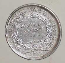 OLD 1899 BOLIVIA SILVER COIN 50 CENTAVOS CENT KM#161 UNC? SOUTH AMERICA ... - $50.00