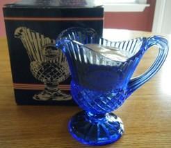 Cobalt Blue Fostoria Mount Vernon Sauce Pitcher and Candle - $9.85