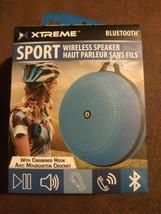 Xtreme Sport Blue Wireless Speaker w/ Carabiner Hook USB MP3 MicroSD Slo... - $21.02 CAD