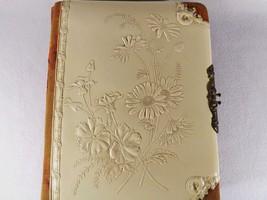 ART NOUVEAU Photo Album FINEST Tooled Leather Cover W/ 25 Victorian Era ... - $100.00