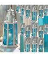 16 Lighthouse Lantern Candleholder Ocean Blue Beach Decor Wedding Center... - $208.00