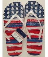 USA American Flag Flip Flops Star and Stripes Red White Blue Unisex Men ... - $2.99